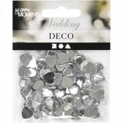 Rhinestones Silver Hjärtan 10 mm - 150 st - Happy Moments
