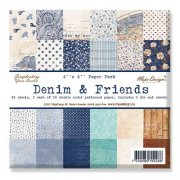 "Paper Pad 48 ark Maja Design 6""x6"" - Denim & Friends"