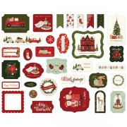 Die Cuts Carta Bella - Hello Christmas - Ephemera