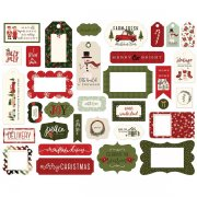 Die Cuts Carta Bella - Hello Christmas - Frames & Tags