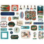 Die Cuts Carta Bella - Summer Camp - Ephemera