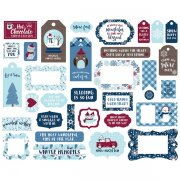 Die cuts Echo Park - My Favorite Winter - Frames & Tags