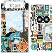 Die Cuts Noteworthy - Life In Color 49 delar - Bo Bunny