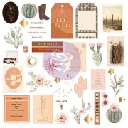 Die Cuts Prima Marketing - Golden Desert - 40 st