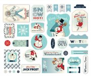 Die Cuts Emphemera - Snow Fun by Carta Bella
