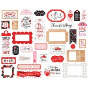 Die Cuts Stickers Echo Park - Cupid & Co. - Frames & Tags