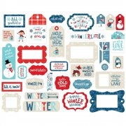 Die Cuts Echo Park - Celebrate Winter Frames & Tags - 33 st
