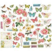 Die Cuts Simple Stories - Simple Vintage Botanicals - 53 Delar