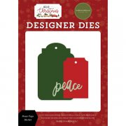 Dies Carta Bella - Hello Christmas - Peace Tags