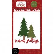 Dies Carta Bella - Hello Christmas - Season's Greeting Trees