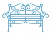 Dies - Creatable Garden Bench Metal - Marianne Design