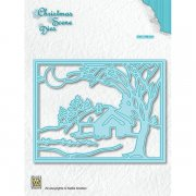 Dies Nellie Snellen Christmas Scene - Moonlight winternight