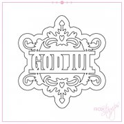 Dies RoxStamps - God jul med skugga - 73x77 mm