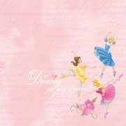 Papper Disney - Princess Dancing, Glitter