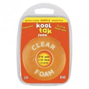 Transparent 3D foam Tape  - Tjocklet 2 mm - ca 1,45 m