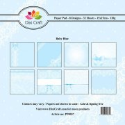 Paper Pad Dixi Craft 6x6 - Baby Blue - 32 ark