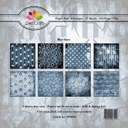 Paper Pad Dixi Craft 6x6 - Blue Stars - 32 ark