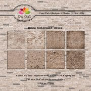 Paper Pad Dixi Craft 6x6 - Bricks Background - Brun - 32 ark
