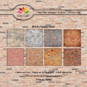 Paper Pad Dixi Craft 6x6 - Bricks Background - 32 ark
