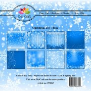 Paper Pad Dixi Craft 6x6 - Christmas Joy - Blue - 32 ark