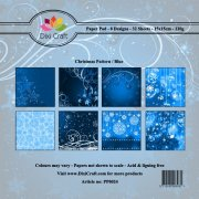 Paper Pad Dixi Craft 6x6 - Christmas Pattern - Blue - 32 ark