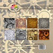 Paper Pad Dixi Craft 6x6 - Gears Background - 32 ark