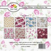 Paper Pad Dixi Craft 6x6 -  Retro Flowers - 32 ark