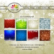 Paper Pad Dixi Craft 6x6 -  Snow Crystal Background - 24 ark