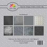 Paper Pad Dixi Craft 6x6 - Steel Background - 32 ark