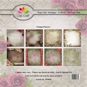 Paper Pad Dixi Craft 6x6 - Vintage Flowers 1 - 32 ark