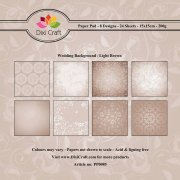 Paper Pad Dixi Craft 6x6 - Wedding Background Vintage - 24 ark