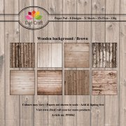 Paper Pad Dixi Craft 6x6 - Wooden Background - Brown  - 32 ark