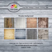 Paper Pad Dixi Craft 6x6 - Wooden Background - 32 ark
