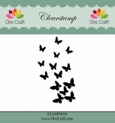 Clearstamp - Dixi Craft - Butterfly Flurry - 6 cm