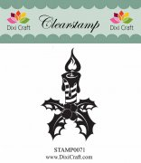 Clearstamp - Dixi Craft - Candle