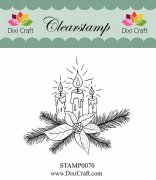 Clearstamp - Dixi Craft - Christmas Candles