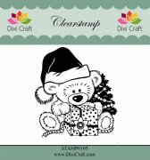 Clearstamp - Dixi Craft - Christmas Teddy Bear