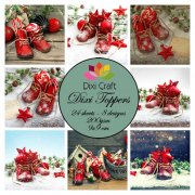 Dixi Crafts Toppers - 9x9cm - Red Boots