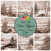 Dixi Crafts Toppers - 9x9cm - Vintage Trees