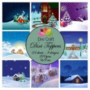 Dixi Crafts Toppers - 9x9cm - Winter Houses