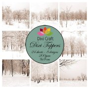 Dixi Crafts Toppers - 9x9cm - Winter Landscape Vintage
