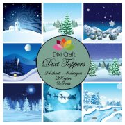 Dixi Crafts Toppers - 9x9cm - Winter Snow Scene