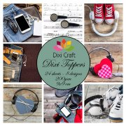 Dixi Crafts Toppers - 9x9cm - Headphones
