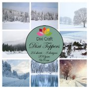 Dixi Crafts Toppers - 9x9cm - Winter Landscapes