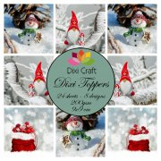 Dixi Crafts Toppers - 9x9cm - Gnome & Snowman