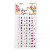 Rhinestones Painted Blooms - Dovecraft 124 st
