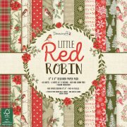 "Paper Pad 6""x6"" - Little Red Robin - Dovecraft - 48 ark"