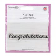 Dovecraft Clearstamp - Congratulations