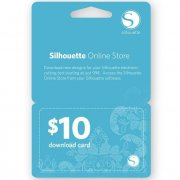 Download Card Silhouette 10 Dollar