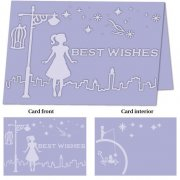 A4 Embossing Folder for Big Shot Plus - Whimsical Wishes ++